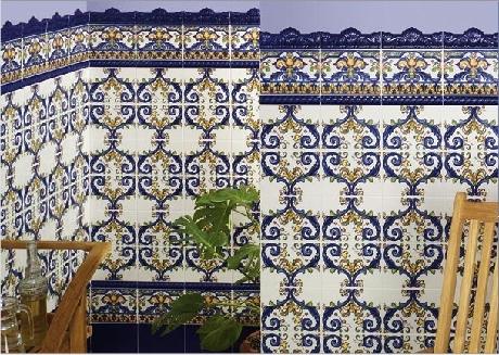 Carrelage andalous 15x20 zocalo azulejos 1er choix for Faience exterieur