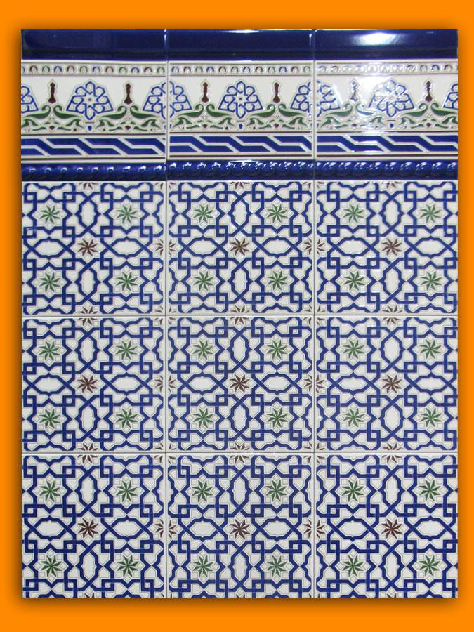 Carrelage andalous 20x20 zocalo azulejos 1er choix for Carrelage mural azulejos