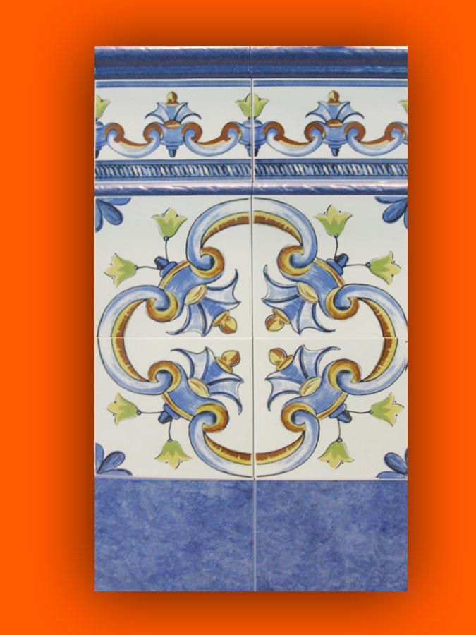 Carrelage andalous 20x20 zocalo azulejos 1er choix for Carrelage espagnol