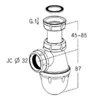 Siphon lavabo tube r glable bonde chrome siphon vidage for Syphon de cuisine