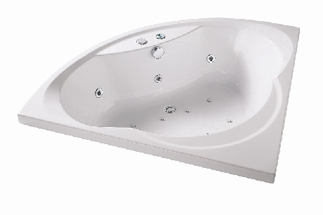 Baignoire balneo d'angle 140x140 Fjord - Gamme Wellness