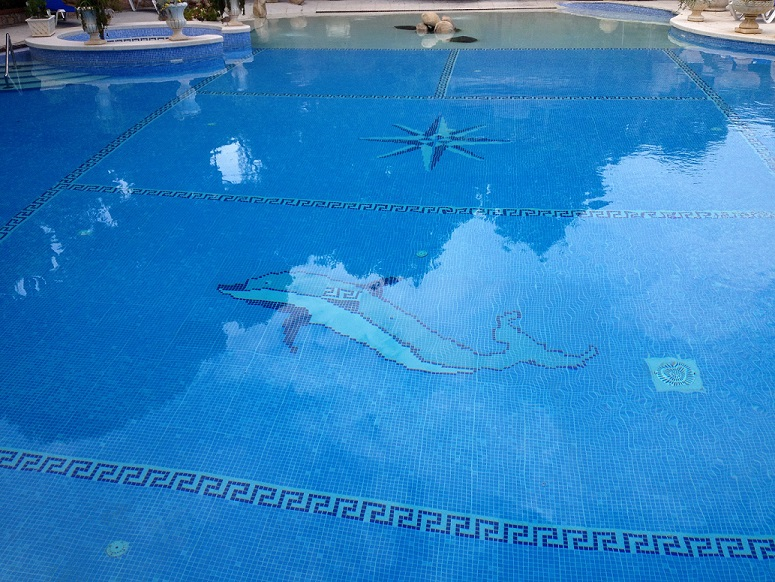 P te de verre et colle associ e carrelage pour piscine for Colle carrelage piscine