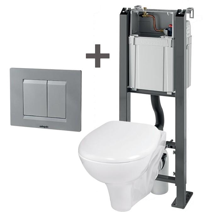 Pack wc suspendu chrono wirquin suspendu baignoire et for Hauteur bati wc suspendu
