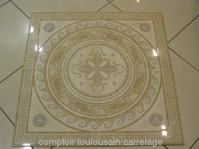 Carrelage versace ceramic design 41x41 s rie palace for Rosace carrelage interieur