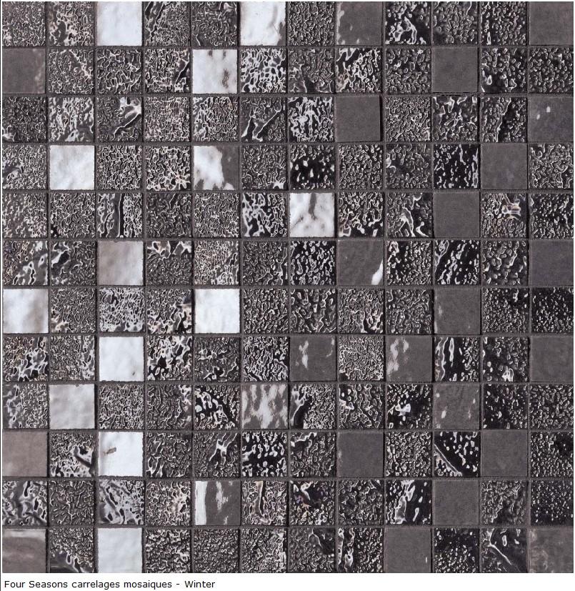 carrelage déco mosaique en grés cérame 30x30 - Série Four Seasons- Sup
