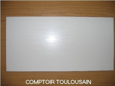Carrelage mural blanc format 15x30 30x60 fa ence 1er for Carrelage 20x40 blanc