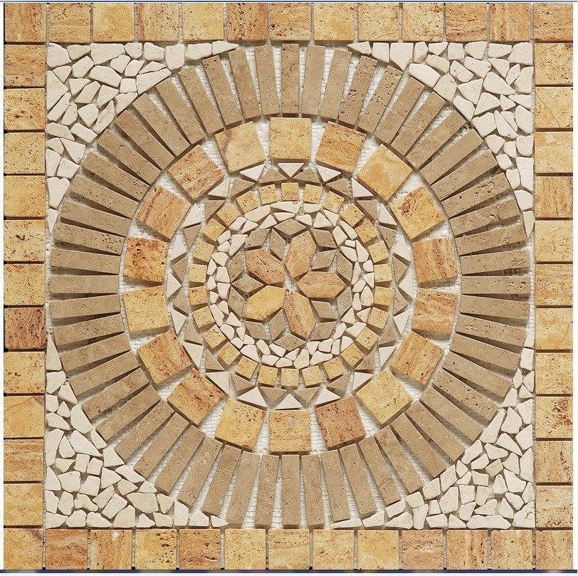 Rosace merida 66x66 en pierre naturelle rosace d corative - Pierre decorative exterieure ...