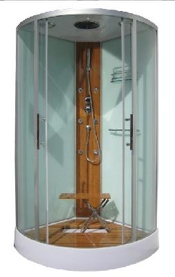 la cabine de douche int grale multifonctions grande taille big bambou est quip e avec une. Black Bedroom Furniture Sets. Home Design Ideas