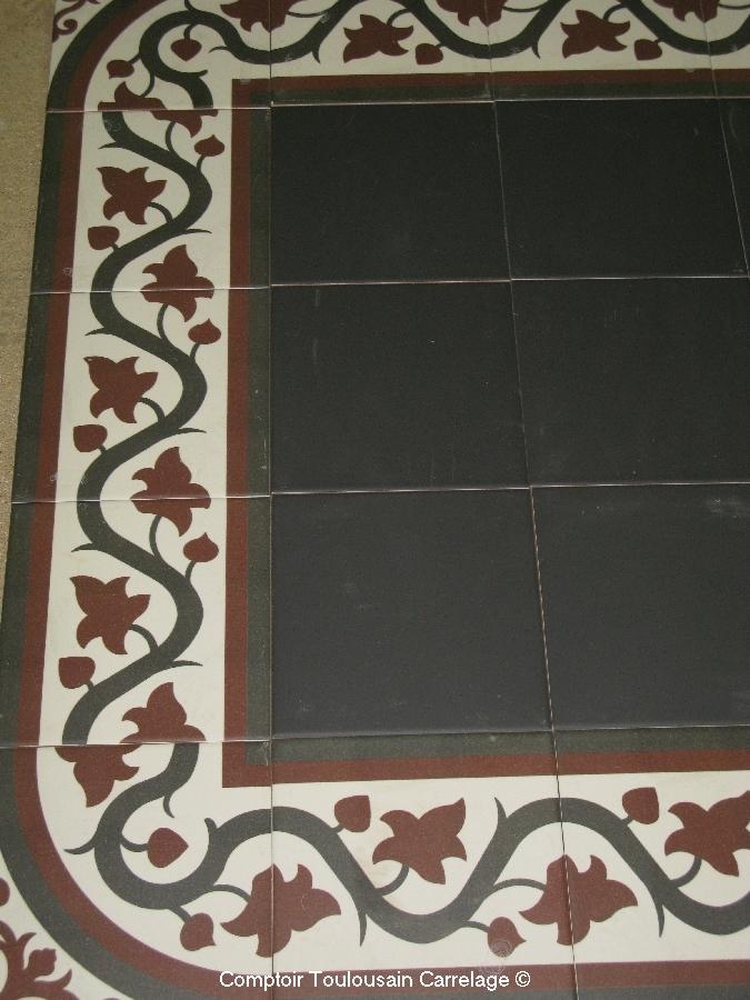 Carrelage aspect carreau ciment 20x20 d cor et frise victorian mainzu mainzu - Composition du ciment ...