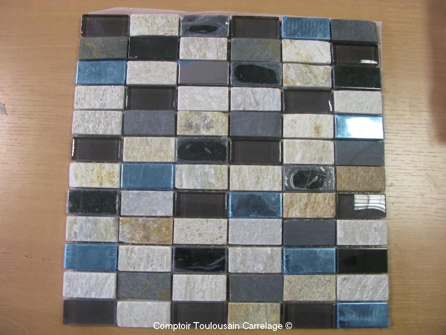 Plaque de mosaique d corative 30x30 mosaique et frise for Carrelage 30x30 beige