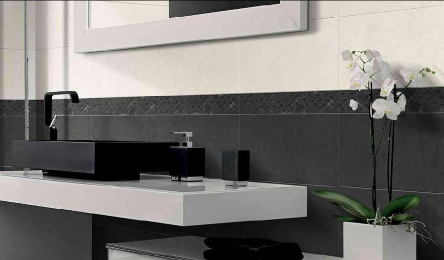Cr ateur de salle de bain toutes les tendances carrelage - Frise murale carrelage salle de bain ...