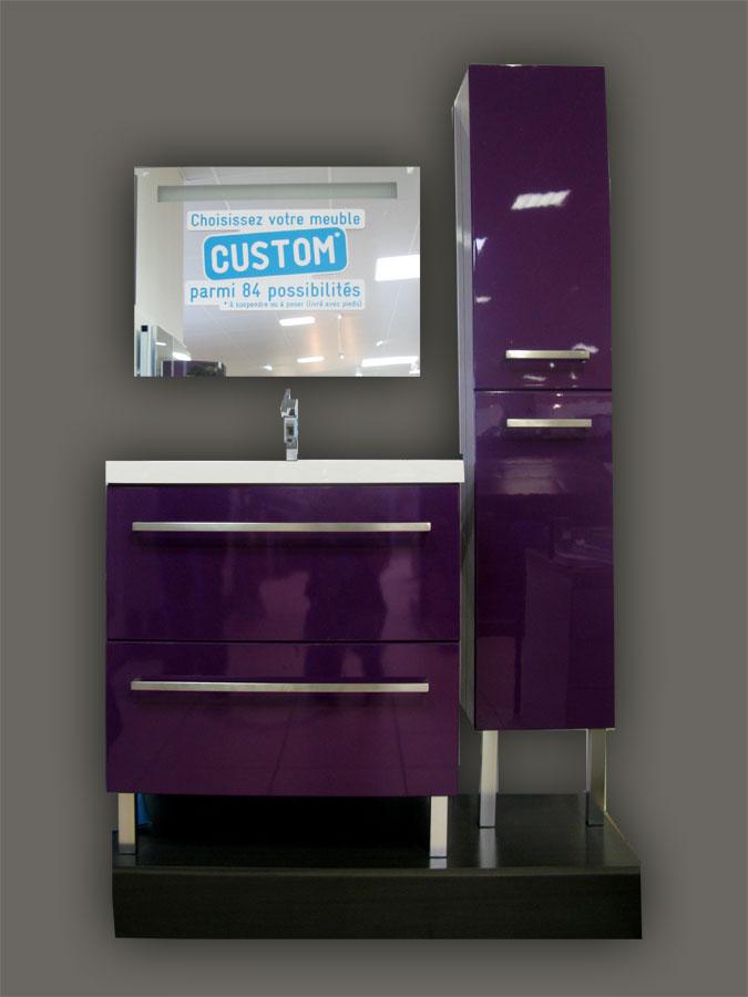 Carrelage en ligne faiences cuisine sanitaire toulouse paris for Meuble salle de bain gris pas cher
