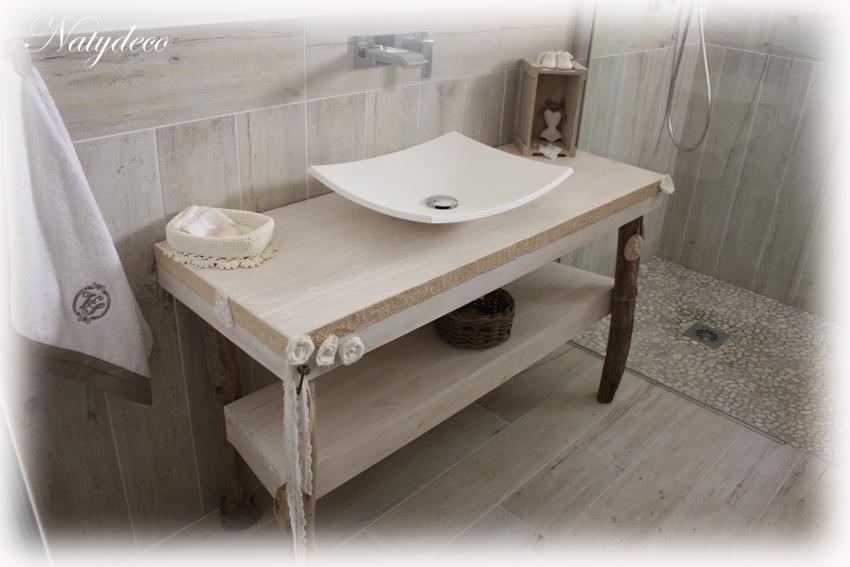 Carrelage lame de parquet 13 5x80 et 20x80 cabane abk for Salle de bain bois flotte