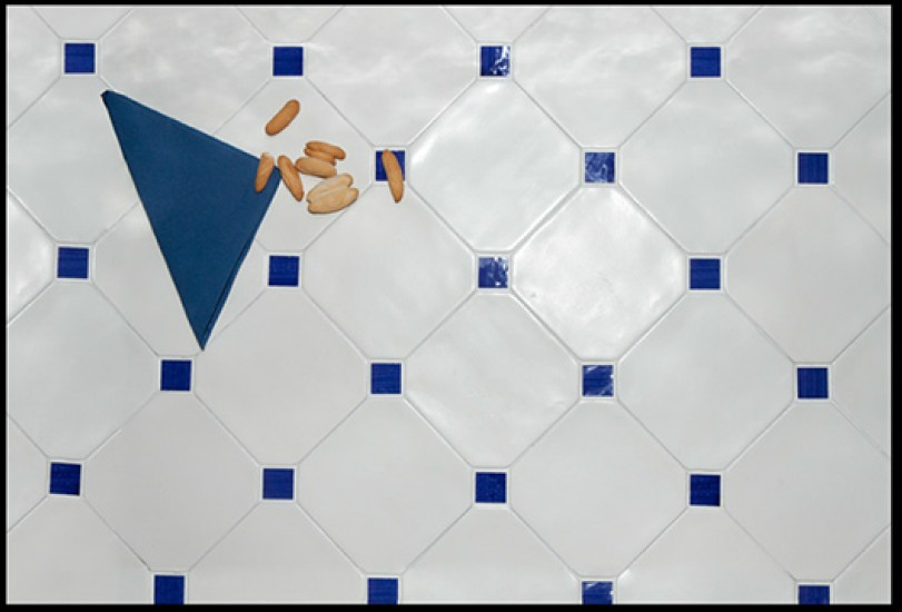 Carrelage 15x15 octogonal avec cabochons cevica sl ce vi for Carrelage bleu sol