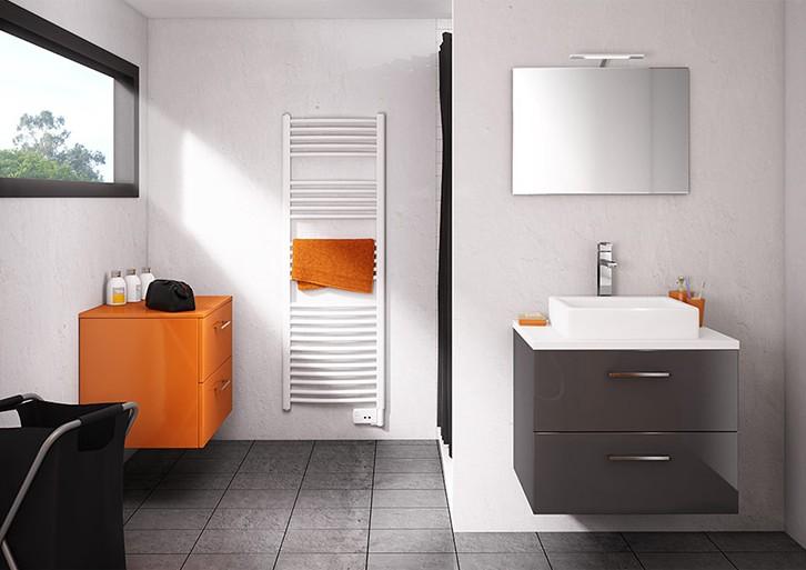salle de bain meuble vasque simple