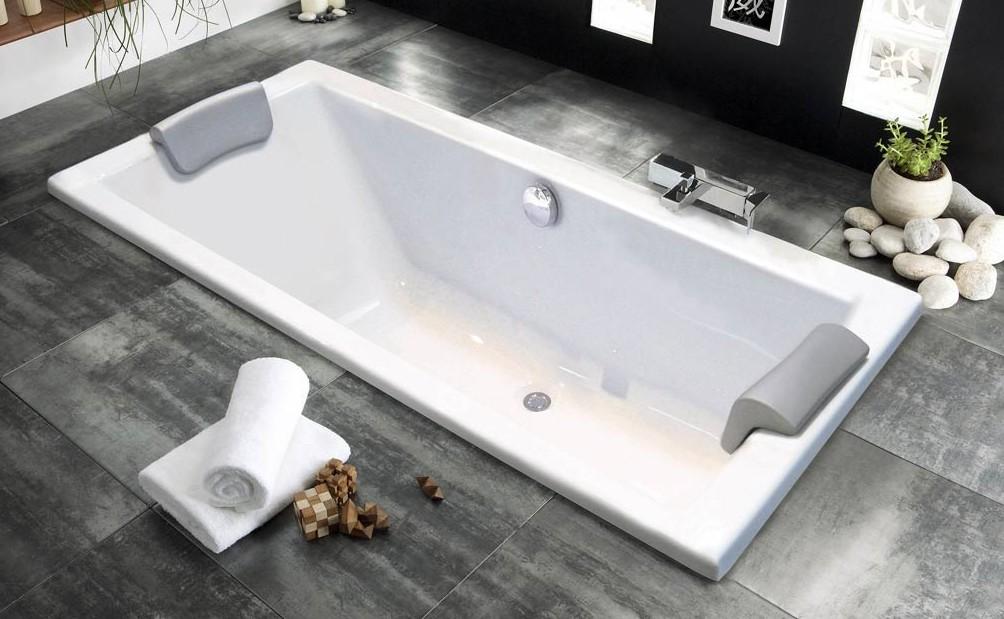 Baignoire droite quadra 170x75 aquarine nue baignoire et for Sanitaire baignoire