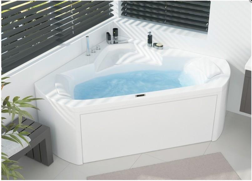 Baignoire balneo d 39 angle 140x140 star mixte plus kinedo for Salle de bain avec baignoire d angle balneo