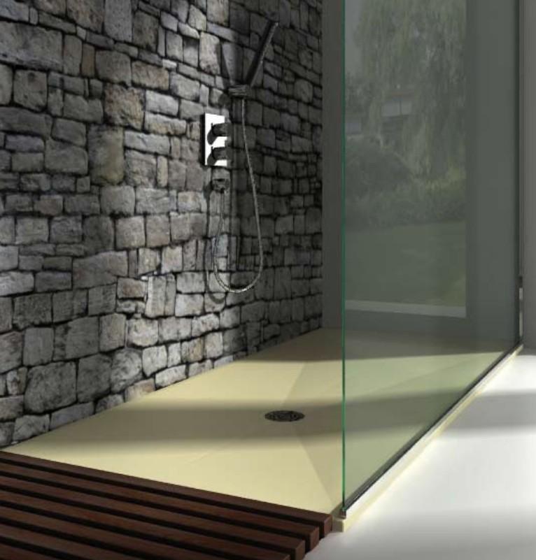 Receveur douche italienne douche l 39 italienne baignoire for Panneau en resine exterieur
