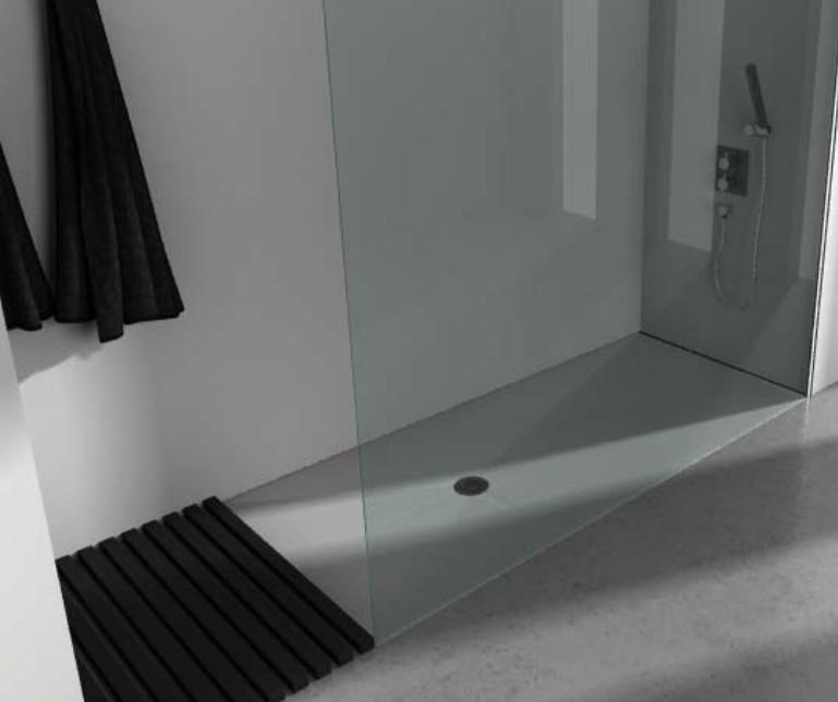 receveur de douche extra plat finition pizarra de resigres receveur douche italienne baignoire. Black Bedroom Furniture Sets. Home Design Ideas