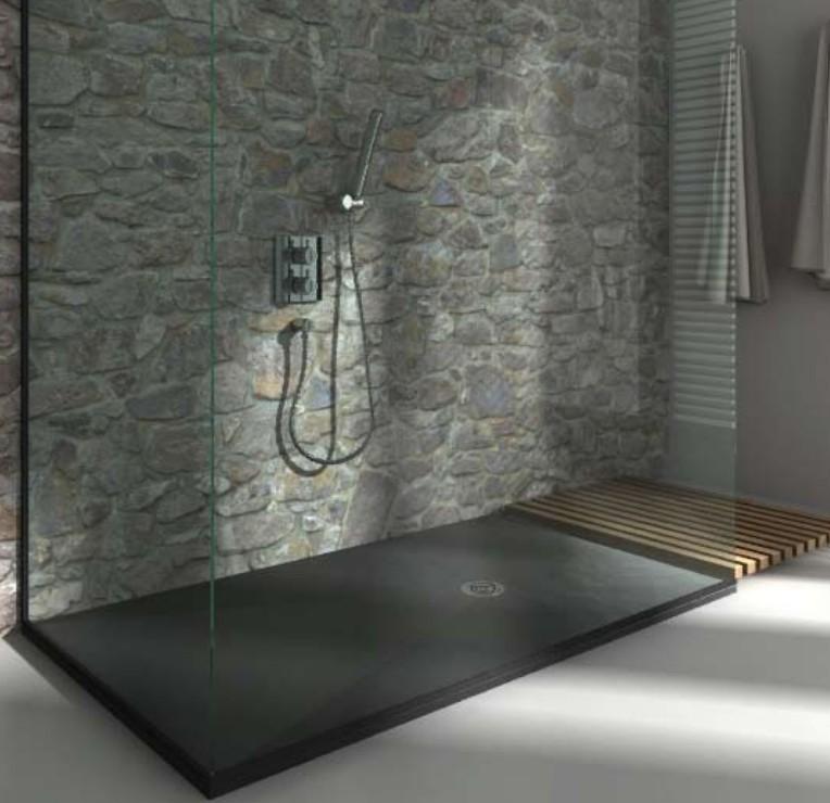 Receveur de douche extra plat dimension 90x90 90x210 for Receveur salle de bain