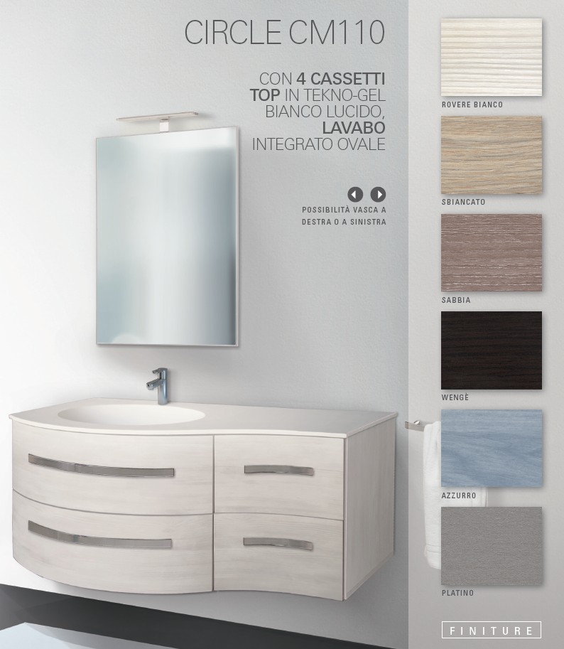 meuble de salle de bains italien circle global trade sl meuble ... - Meuble Salle De Bain Design Italien
