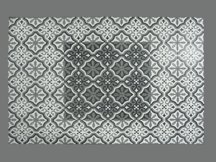 Carrelage aspect carreau ciment 20x20 serie florentine - Reparer un carreau de carrelage casse ...