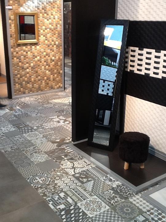 carrelage sol interieur ciment et décoré Carrelage