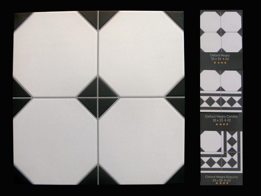 Carrelage 33x33 aspect octogonal en relief s rie oxford for Carrelage cabochon noir et blanc