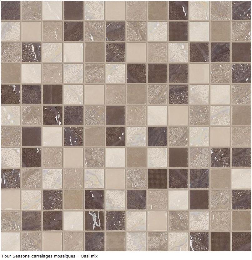 Carrelage d co mosaique en gr s c rame 30x30 s rie four for Carrelage 30x30 gris
