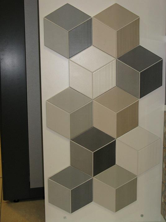 Imitation carreau ciment en relief effet 3d natucer for Carrelage 3d salle de bain