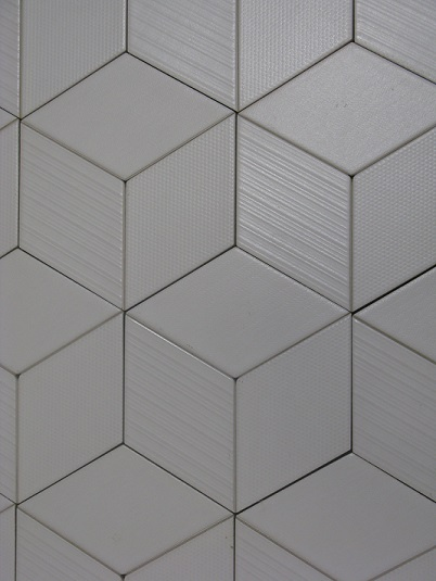 Imitation carreau ciment en relief effet 3d natucer - Carrelage hexagonal blanc ...