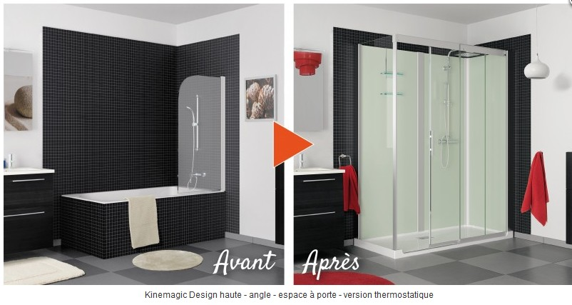 douche kinedo kinemagic design kinemagic kinedo baignoire et sanitaire kinemagic. Black Bedroom Furniture Sets. Home Design Ideas