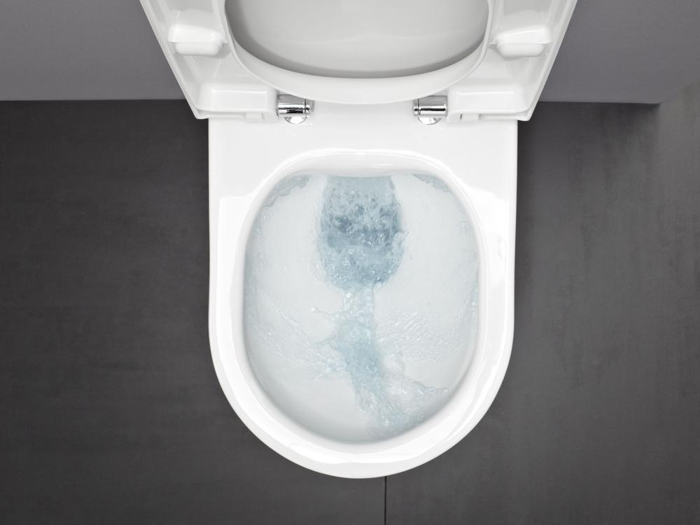 Ensemble cuvette sans bride laufen avec b ti support - Cuvette wc sans bride ...