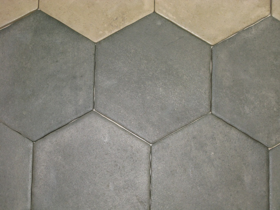 Carrelage hexagonal sol et mur 15x15 cement durstone for Carrelage hexagonal cuisine