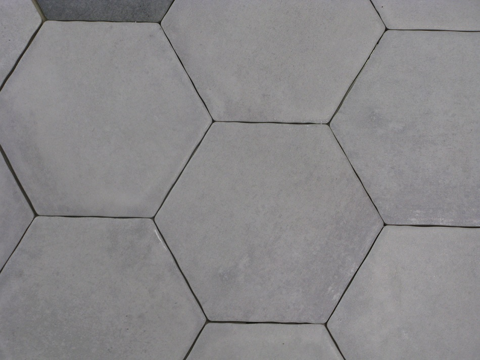 Carrelage hexagonal sol et mur 15x15 cement durstone for Carrelage hexagonal marbre