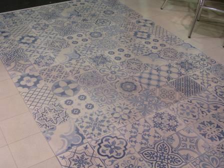 Carrelage vintage sol et mur 44x44 skyros realonda for Carrelage sdb bleu