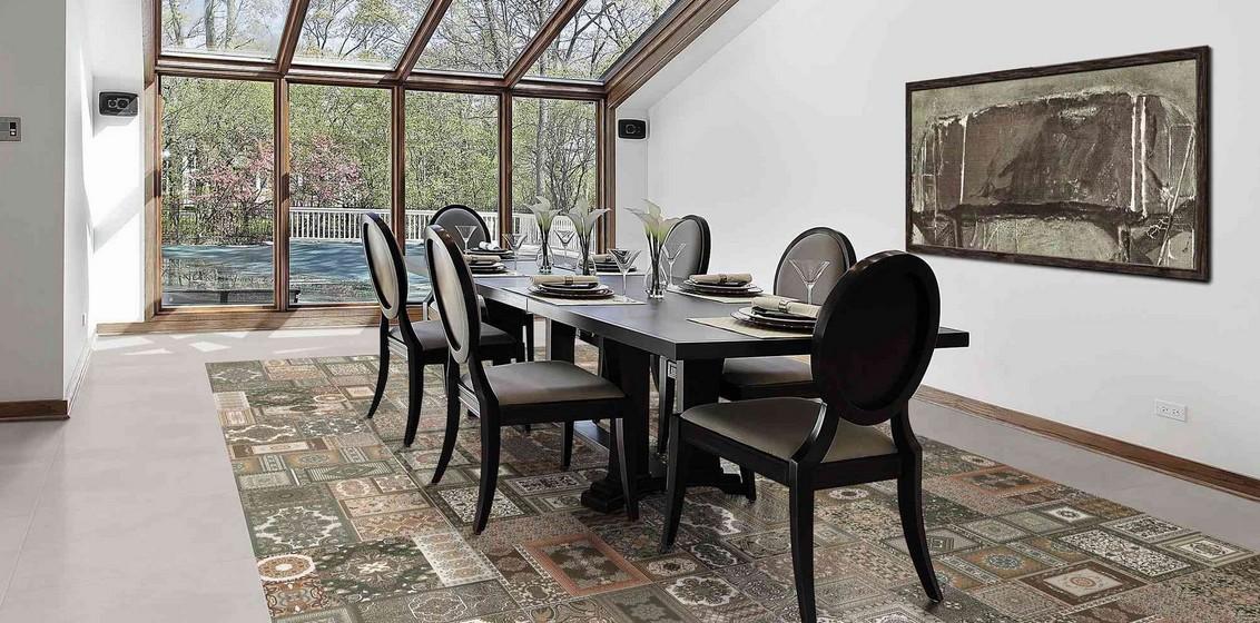 Carrelage vintage sol et mur 44x44 kilim realonda for Carrelage cuisine retro