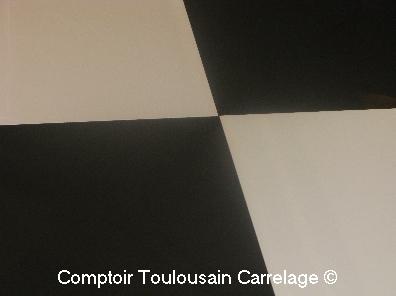 Carrelage 80x80 poli blanc et noir durstone gr s c rame - Carrelage gres cerame noir ...