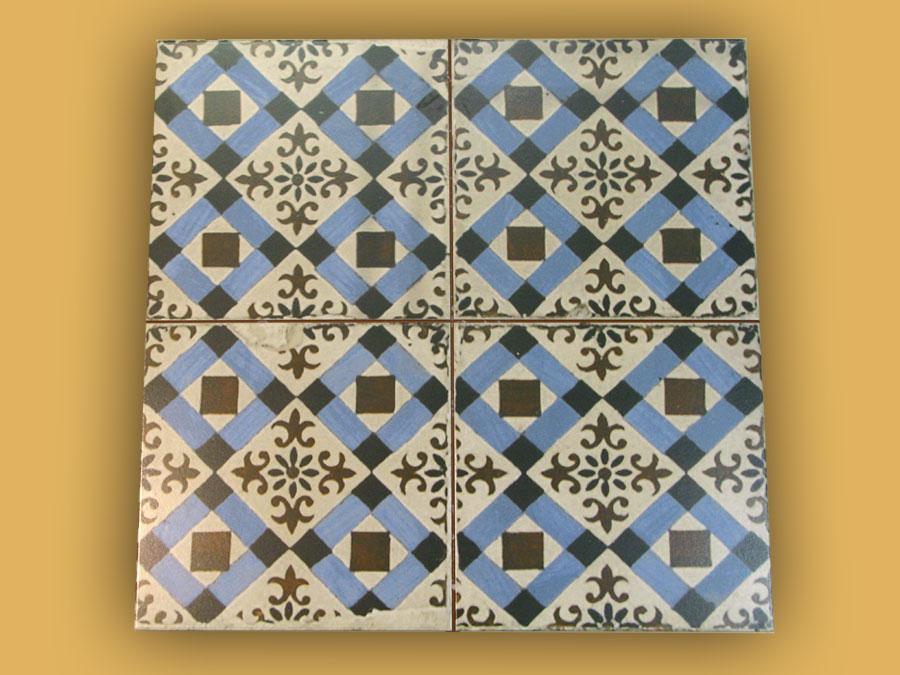 Tr s belle imitation carreau ciment 45x45 en gr s maill for Carrelage gres imitation carreaux ciment