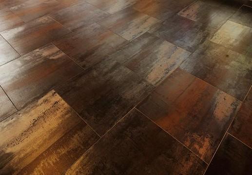 Carrelage corten 60x60 effet m tal tau ceramica tau for Carrelage rouille