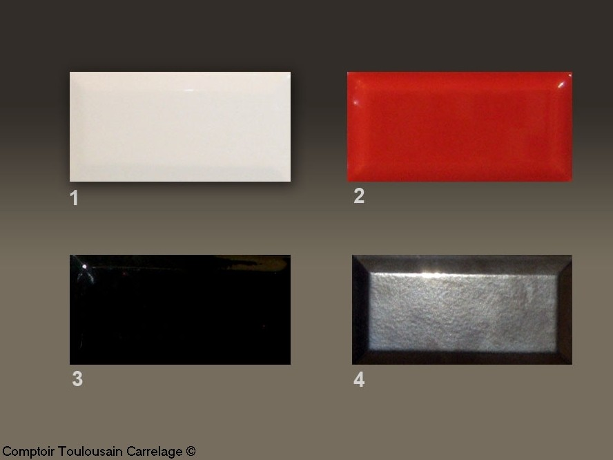 carrelage metro 7,5x15 haut de gamme rouge, noir, blanc - carrelage 1e