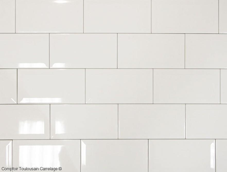 Carrelage mural 10x20 metro de paris blanc mainzu carrelage 10x20 carrelage salle de bains - Carrelage muurschildering metro blanc ...