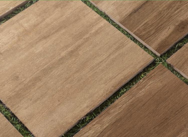 Carrelage en gr s c rame 60x60 paisseur 2 cm sur plot for Dalle exterieur imitation bois