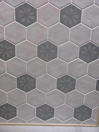 Plan de pose carrelage hexagonal