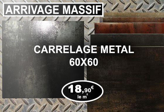 Carreau metal 60x60