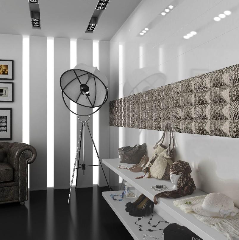 Carrelage mural 20x60 akrom blanc brillant ou mat saloni for Faience salle de bain blanc brillant