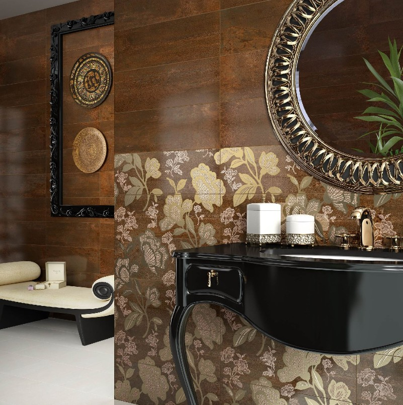 carrelage 20x60 metalika saloni saloni carrelage salle de bain fa ence moderne. Black Bedroom Furniture Sets. Home Design Ideas
