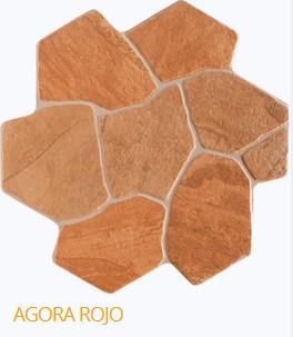 Carrelage hexagonal ext rieur en gr s c rame 44 2x44 2 for Carrelage hexagonal gres cerame