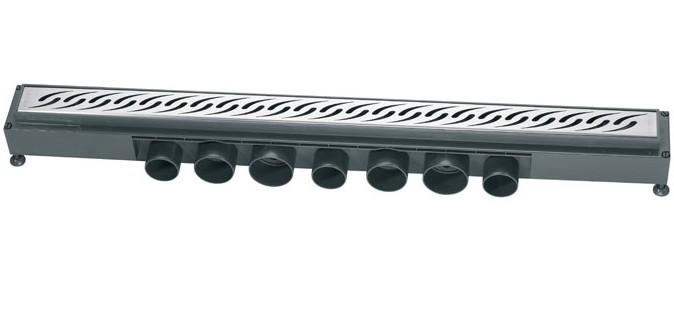 caniveau pour douche l 39 italienne venisio wirquin caniveaux de sol baignoire et sanitaire. Black Bedroom Furniture Sets. Home Design Ideas