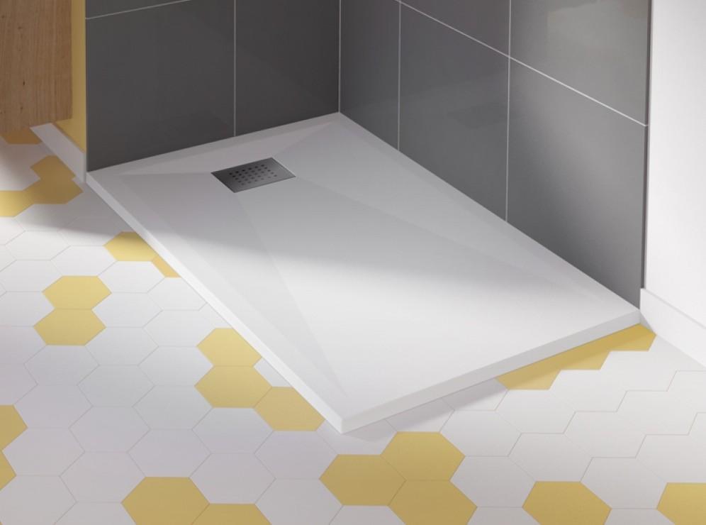 baignoire et sanitaire receveur de douche extra plat carrelage. Black Bedroom Furniture Sets. Home Design Ideas
